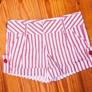 {dELIA*S} Pink & White striped shorts ❤️